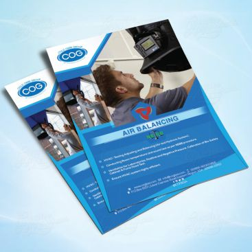 Air Balancing Flyer Print Friendly Brochure Design