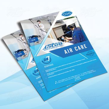 Air Care Flyer Print Friendly Brochure Design