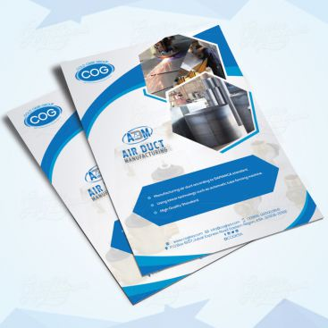 Air Duct Manufacturing Flyer Print Friendly Brochure Design