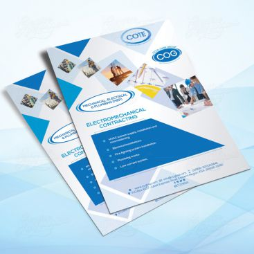 Construction Flyer Print Friendly Brochure Design