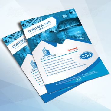 Control Ray Intelligence Flyer Print Friendly Brochure Design