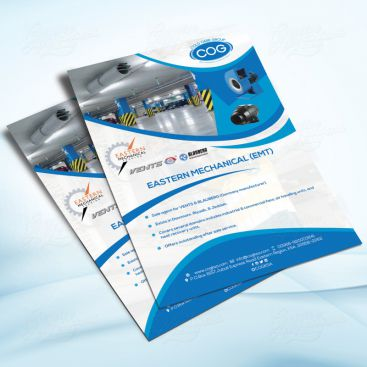 Eastern Mechanical Trading Flyer Print Friendly Brochure Design