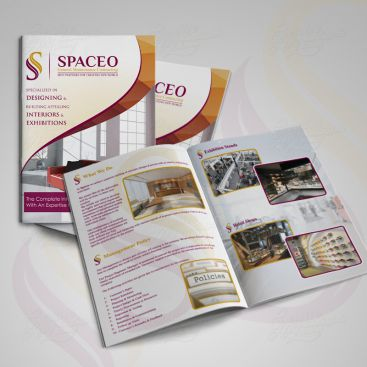 Spaceo Interior Catalo Print Friendly Brochure Design
