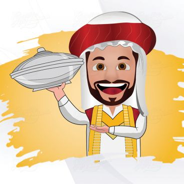 Arabic Character Illustrration Design