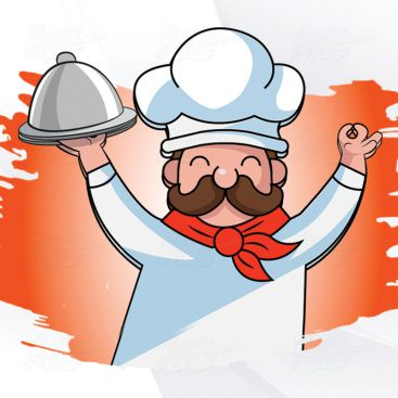 Chef Character Illustrration Design