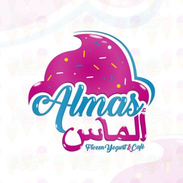 Almas Flavour Yogurt & Cafe Logo Design