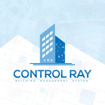 Control Ray Building Intelligence System Logo Design