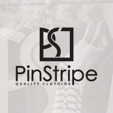 Pin Stripe Cloth Apparel Logo Design