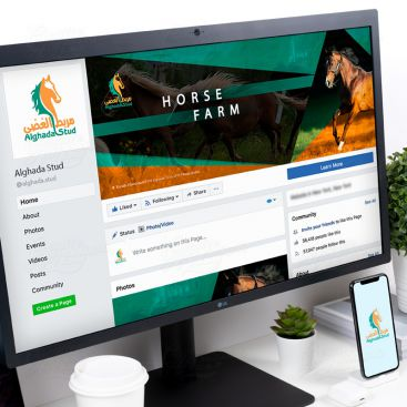 Al Ghada Horse Stable Social Media Banner Design Design