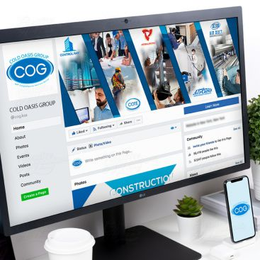 Cold Oasis Group Social Media Banner Design Design