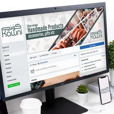 Kawni Online Shopping Store Social Media Banner Design Design