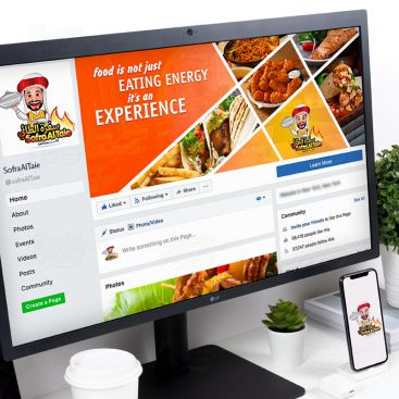 مطعم سفرة الطائي العربي تصميم شبكات إعلامية اجتماعية