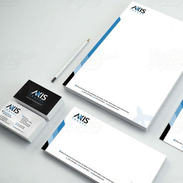 Axis Travel Stationery & Business Card Design