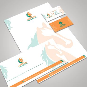Al Ghada Stud Horse Farm Stationery & Business Card Design