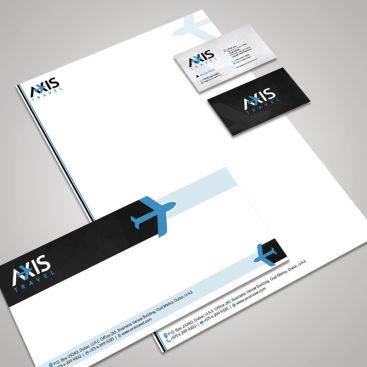 AXIS Travel & Tourism Stationery & Business Card Design