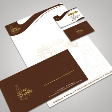 Chantilly Wedding Dress Stationery & Business Card Design