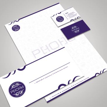 Phobia Coffe Cafe Shop Stationery & Business Card Design