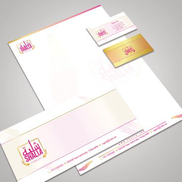 Shalia Luxury Cosmetic Stationery & Business Card Design