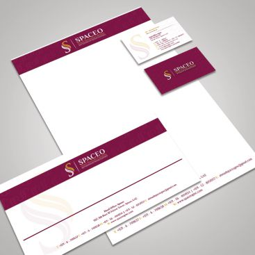 Spaceo Interior Company Stationery & Business Card Design