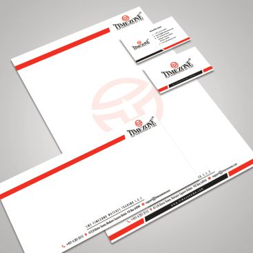 Timezone Watches Brand Stationery & Business Card Design