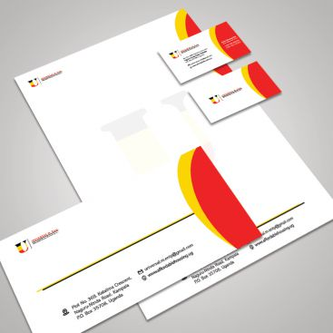 Universal M. Enterprises Construction Company Stationery & Business Card Design