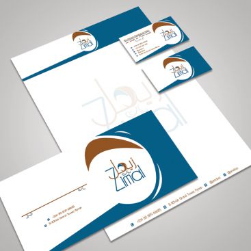 Zimal Premium Abaya Clothing Brand Stationery & Business Card Design