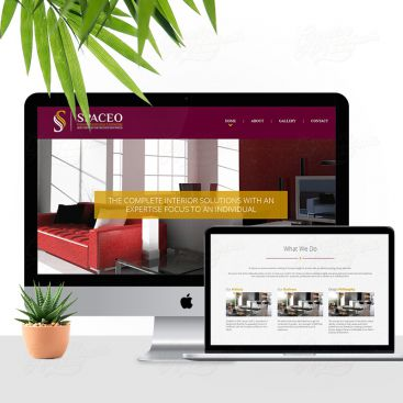 Spaceo Interior Decorator Mobile Friendly Website Design