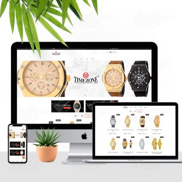 Timezone Premium Watch Brand Mobile Friendly Website Design